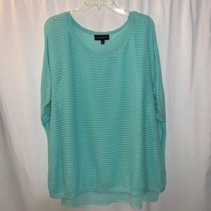 Lane Bryant Turquoise Short Sleeve Top Size 22/24
